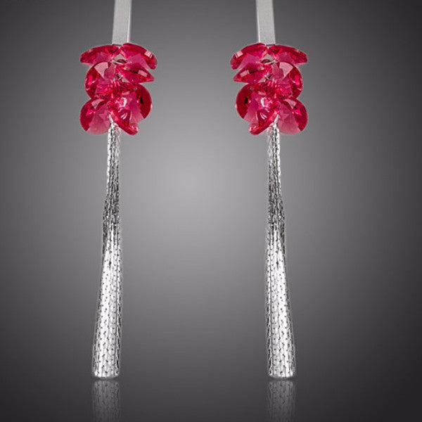 Rose Red Drop Earrings