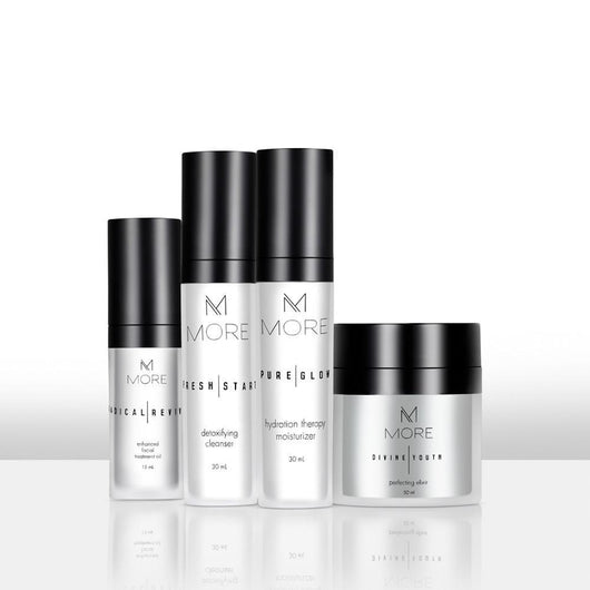 MORE - Complete Skin Care Set, Supports Younger, Healthier Looking Skin and Promotes Collagen Production, 4 Piece Set