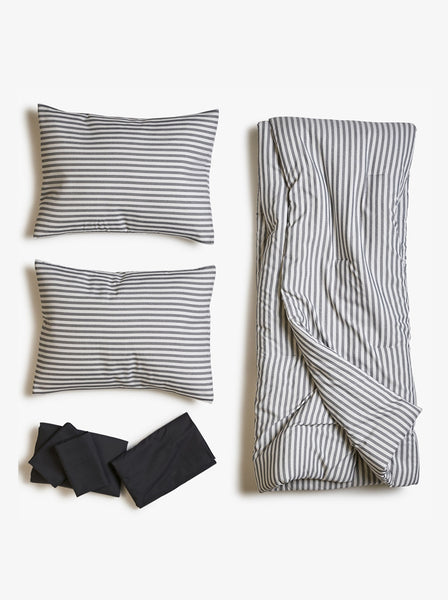 Just My Stripe Comforter Black Bed Set