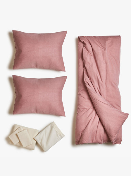 Jersey Desert Rose Duvet Bed Set