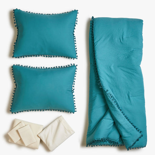 Teal Agave Comforter Bed Set