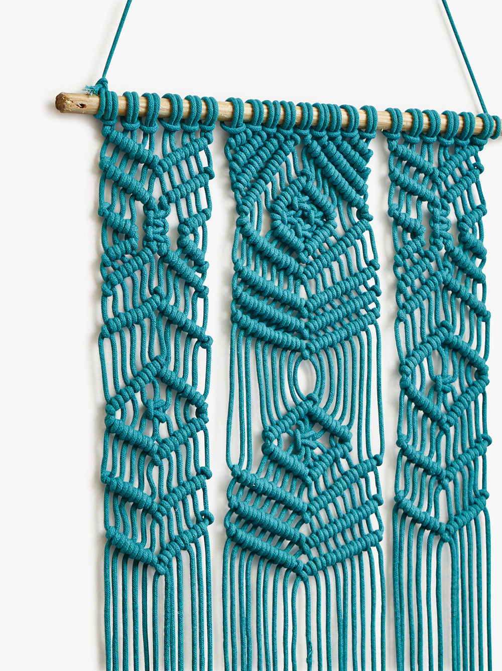 Teal Crochet Wall Hanging
