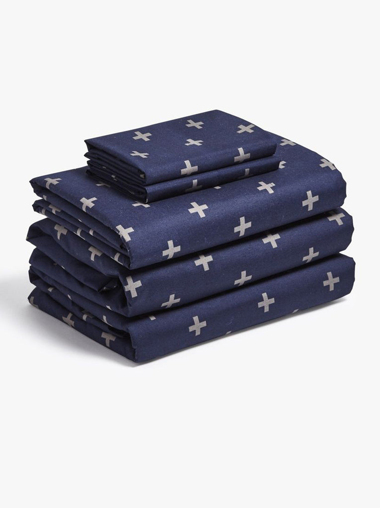 Navy Plus Twin XL Sheet Set