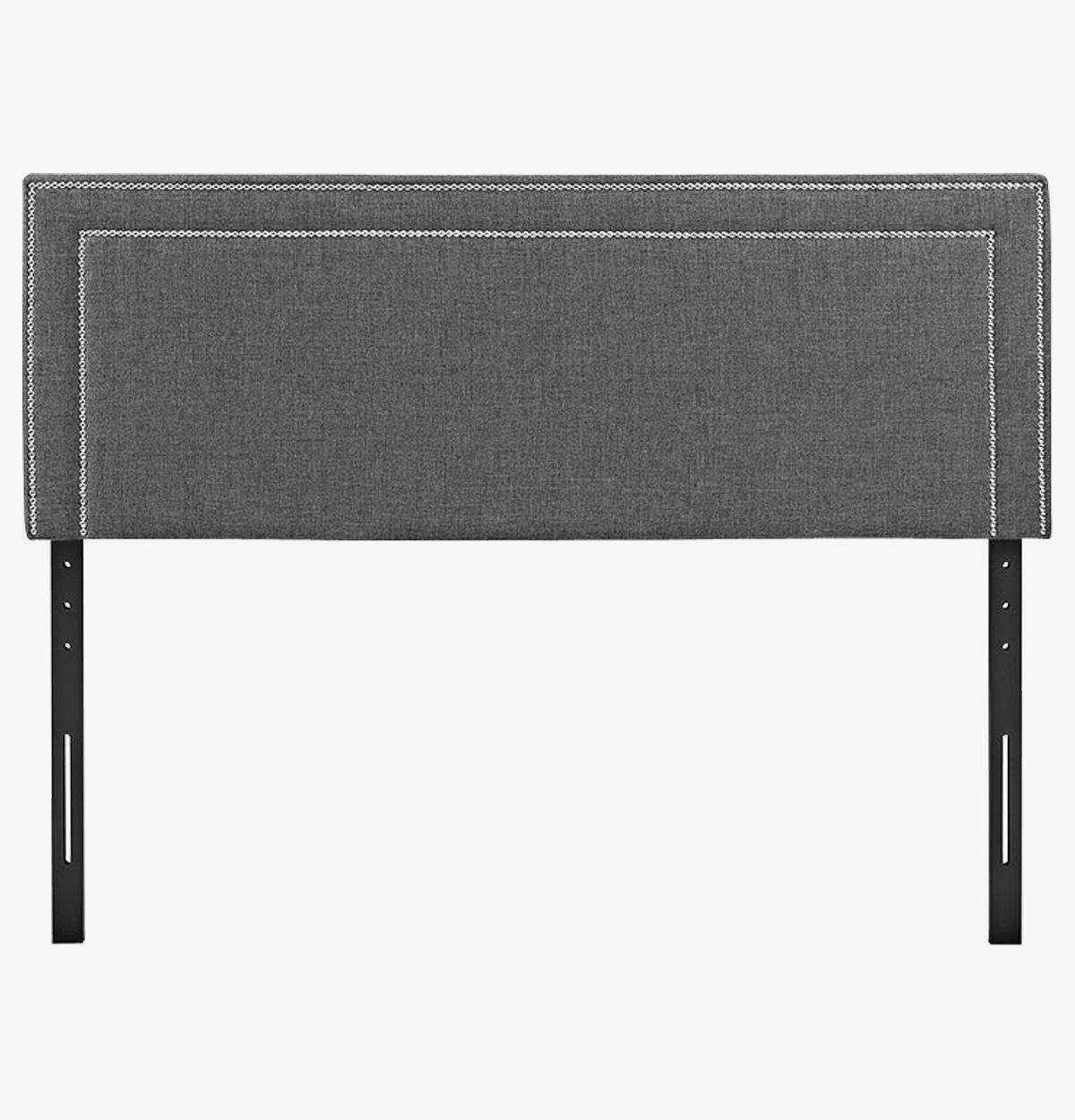 Gray Nail Trimmed Headboard