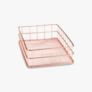 Rose Gold Paper Tray