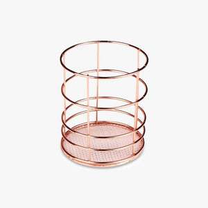 Rose Gold Circle Pencil Holder