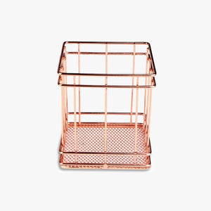 Rose Gold Squared Pencil Holder