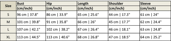 Crazy Fox Cuddle Pouch Pet Hoodie Size Chart