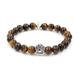 Natural Stone Dog Bracelet - Crazy Fox
