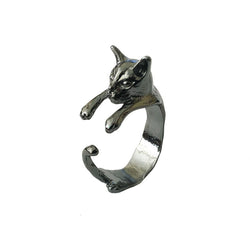 Vintage Handmade Cat Ring - Crazy Fox