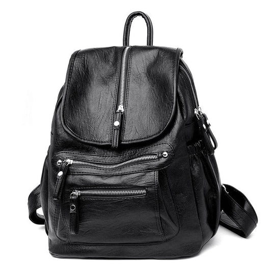 Women's Vintage Leather Backpack
