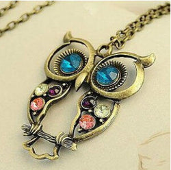 Long Chain Owl Vintage Necklace - Crazy Fox