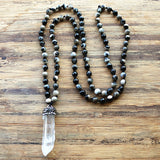White Crystal Natural Stone Bead Necklace - Crazy Fox