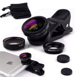 Universal 3-in-1 Smartphone Camera Lens - Crazy Fox