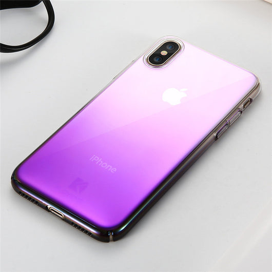 Blue-Ray Transparent iPhone X Case - Crazy Fox