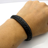 Magnetic Leather Braided Bracelet - Crazy Fox