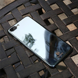Gradient Blue-Ray Transparent iPhone Case - Crazy Fox