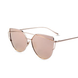 Flat Lenses Cat Eye Sunglasses - Crazy Fox