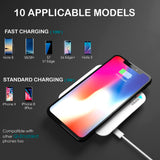 10W Fast Wireless Charger Pad for iPhone 8/X/XR & Samsung S9/S8 Plus - Crazy Fox