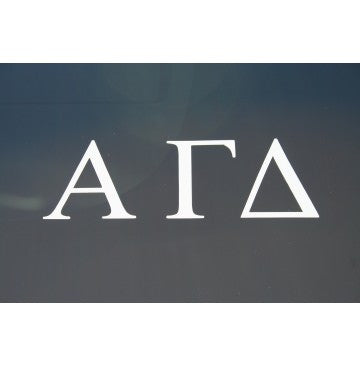 Alpha Gamma Delta Decal
