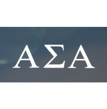 Alpha Sigma Alpha Decal