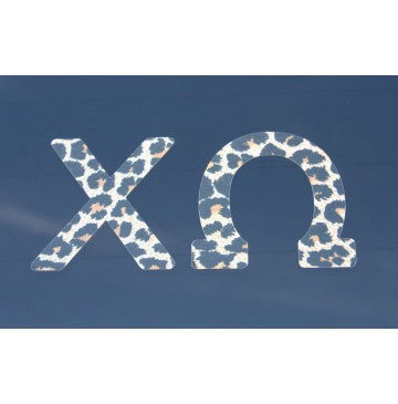 Chi Omega Leopard Print Decal