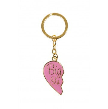 Big Sis Gold Keychain