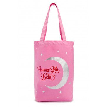 Gamma Phi Beta Crescent Moon Tote Bag
