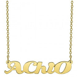 Alpha Chi Omega Gold Script Necklace