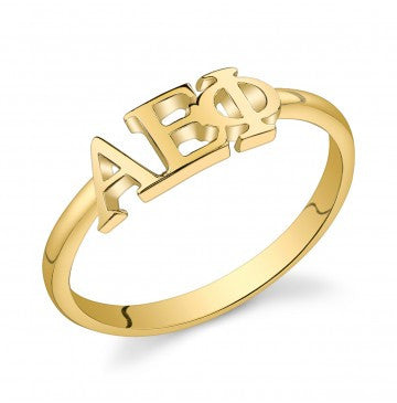 Alpha Epsilon Phi Gold Vermeil Letter Ring