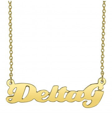 Delta Gamma Gold Script Necklace