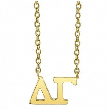 Delta Gamma Gold Letter Necklace