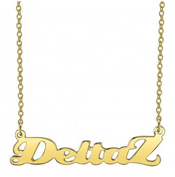 Delta Zeta Gold Script Necklace