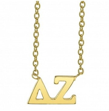 Delta Zeta Gold Letter Necklace