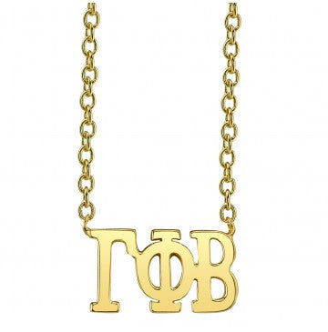 Gamma Phi Beta Gold Letter Necklace