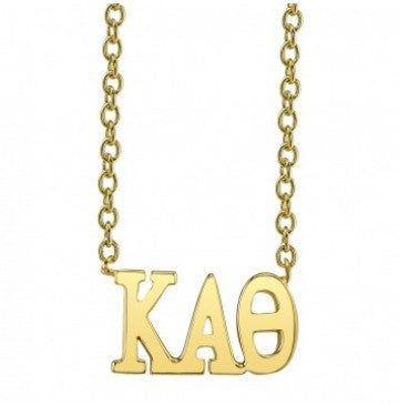 Kappa Alpha Theta Gold Letter Necklace