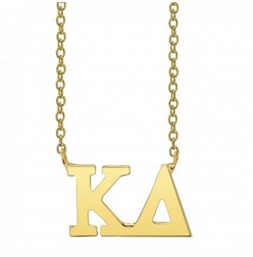 Kappa Delta Gold Letter Necklace
