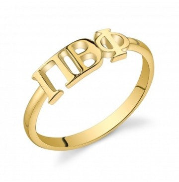 Pi Beta Phi Gold Vermeil Letter Ring