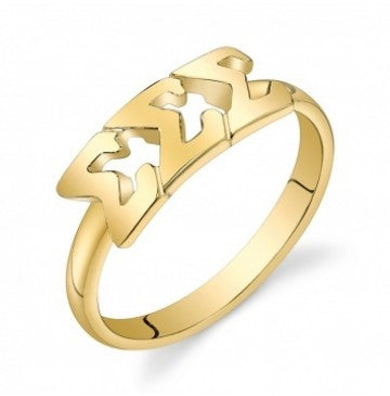 Sigma Sigma Sigma Gold Vermeil Letter Ring