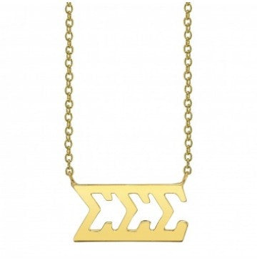 Sigma Sigma Sigma Gold Letter Necklace