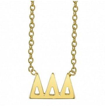 Delta Delta Delta Gold Letter Necklace