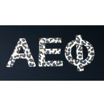 Alpha Epsilon Phi Leopard Print Decal