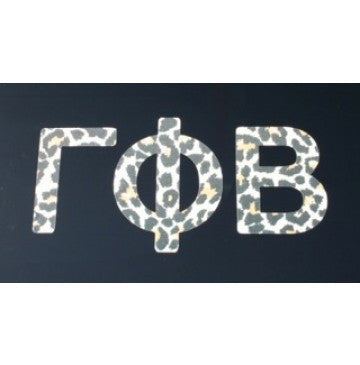Gamma Phi Beta Leopard Print Decal