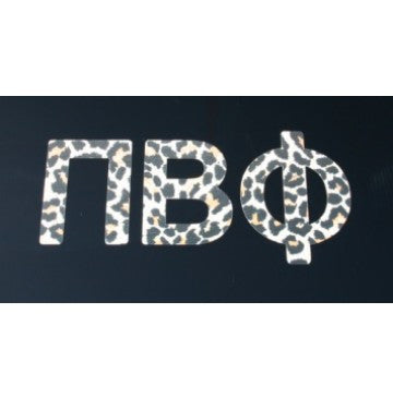 Pi Beta Phi Leopard Print Decal
