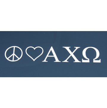 Peace Love Alpha Chi Omega Decal