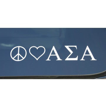 Peace Love Alpha Sigma Alpha Decal