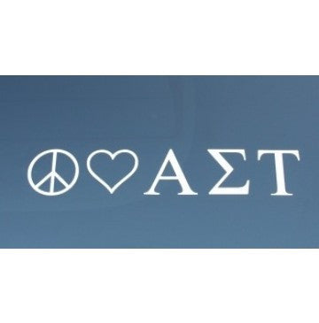 Peace Love Alpha Sigma Tau Decal