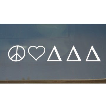 Peace Love Delta Delta Delta Decal