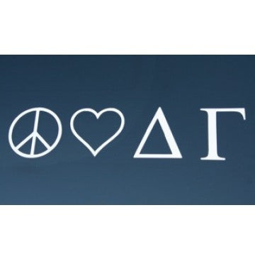 Peace Love Delta Gamma Decal