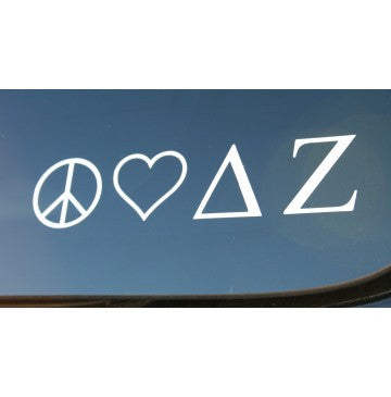 Peace Love Delta Zeta Decal